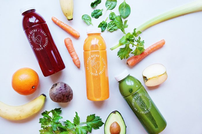 Juicy Detox fresh pressed juices